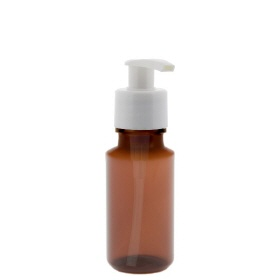100ml Pet-Medizinflasche m. weisser Dispenserpumpe