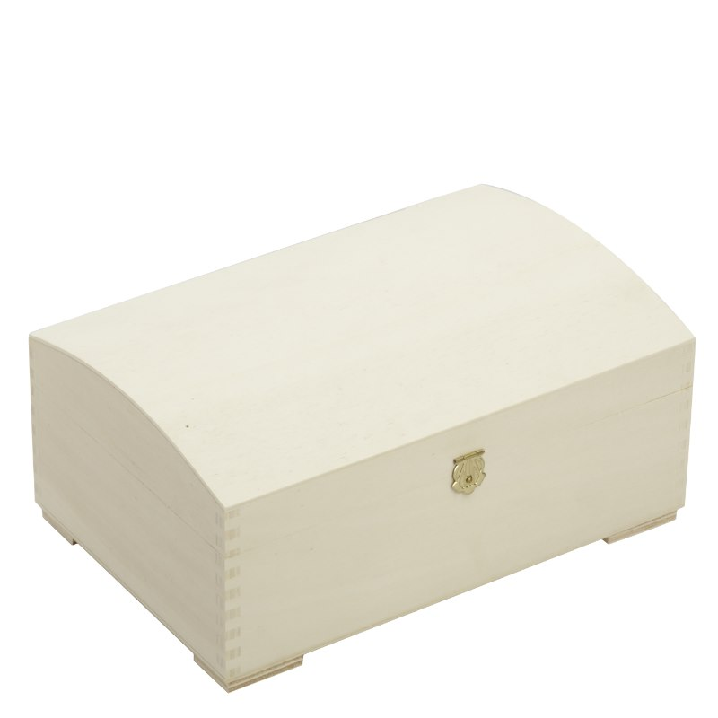 holzbox truhe mit gew lbten deckel 26x17x11cm. Black Bedroom Furniture Sets. Home Design Ideas