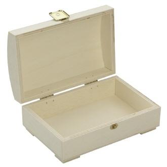 holzbox truhe mit gew lbten deckel 15x10x6cm. Black Bedroom Furniture Sets. Home Design Ideas