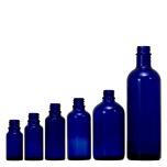 blaue flaschen und dosen aus glas oder kunststoff. Black Bedroom Furniture Sets. Home Design Ideas